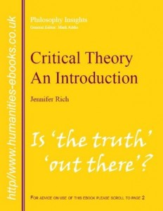 Critical Theory: An Introduction by Jennifer Rich